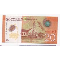 Nicaragua Billete Plastico 20 Cordobas Sin Circular