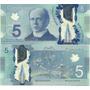 Billete Canada Año 2013 5 Dolares Plastico Sin Circular