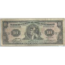 Ecuador 10 Sucres 1977