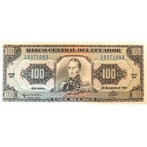 Billete De Ecuador - 100 Sucres -1993 - En Mendoza