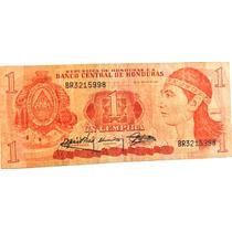 Billete De Honduras - 1 Lempira - 1989 - En Mendoza