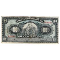 Argentvs * Peru Billete De 100 Soles De Oro 1968 - P#86a