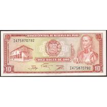 Peru - Billete De 10 Soles De Oro
