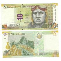 Nuevo Billete Peru 10 Nuevos Soles Machu Pichu Sin Circular