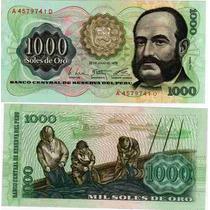 Billete De Peru 1.000 Soles De Oro Año 1976 Sin Circular