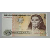 Billete De Perú 500 Intis