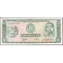 Peru - Billete De 5 Soles De Oro