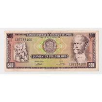 Peru Billete De 500 Soles De Oro Año 1974