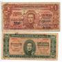 Uruguay Lote De 50 Cts Y 1 Peso Año 1939 Bm 2060