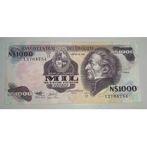 Billete Uruguay 10000 Nuevos Pesos Moneda Nacional