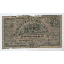 Billete De Uruguay De 2 Pesos Del Año 1887