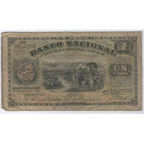 Billete De Uruguay De 1 Peso Del Año 1887