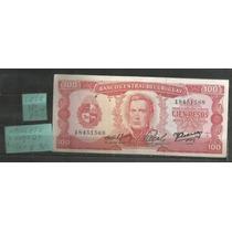 Uruguay/ Un Billete Nuevo De 100 Pesos