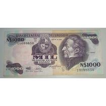 Billete De Uruguay 1000 Nuevos Pesos