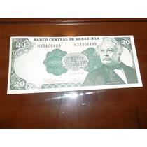 Billete 20 Bolivares Venezuela
