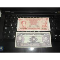 Lote De 2 Billetes De Venezuela, Bolivares