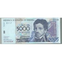 Billete Venezuela 5000 Bolivares 2004 P 84c Sin Circular