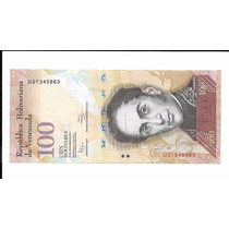 Billete De Venezuela. 100 Bolívares 2012