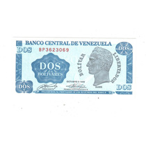 Venezuela Billete De 2 Bolivares Año 1989 !!!