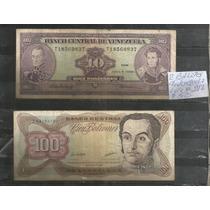 Venezuela/ 2 Billetes Valor De 10 Y 100 Bolivares