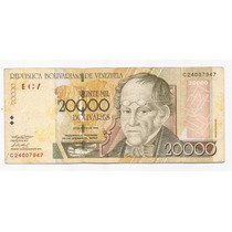 Venezuela Billete De 20000 Bolivares 2004 Pick 86 B !!