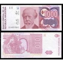 1000 Australes Sin Circular (serie De 3 Billetes)