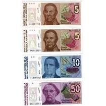 8 Billetes De Australes Sin Circular Catalogo 18 Dolares!!!!