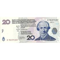 Billete Bono 20 Lecops Reposicion Año 2001 Sin Circular