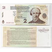 Argentina, Bono Nacional 2 Lecop, Sc, Firmas: Olivera-scala