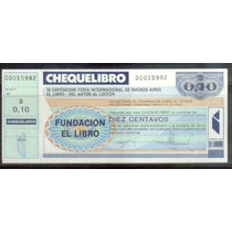 Cheque Libro - Fundación El Libro Año 1993 Sin Circular