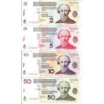 Lote De 4 Bonos Lecop 2, 5, 10 Y 50 Pesos ¡oferta!