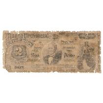 Entre Rios Banco Provincial 2 Pesos 1881