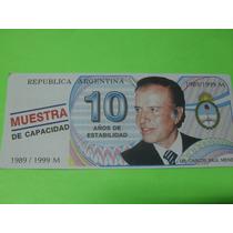 1989-1999 Menem 10 Años De Estabilidad