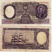 Billete 1000 Pesos Serie A Numeros Rojos Muy Bueno- Bot 2132