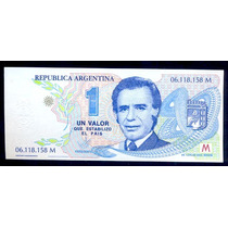 Argentina Billete $ 1.00 Menem Mint