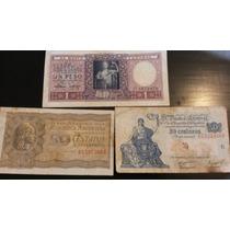 Lote De 34 Billetes Antiguos Argentinos - Algunos Sin Uso!