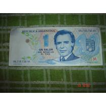 Billete $1 Menem Trucho Decada Del´90 Nuevo Original!!!