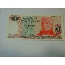 1 Peso Argentino Año 1983 Flor De Estampa