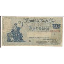 Billete 10 Pesos Caja De Conversion Serie B Bueno+