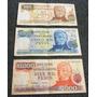 Billetes Antiguos Argentinos: 1.000, 5.000 Y 10.000 Pesos