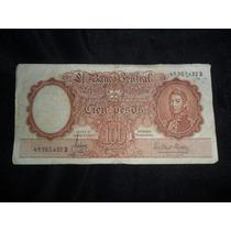 Billete Argentino 100 Cien Pesos Moneda Nacional Serie D