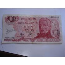 Billete De Cien Pesos Argentinos 91.103.602 A