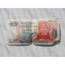 Billete De Un Peso Argentino San Martín