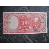 Billete De Chile 100 Pesos 10 Centésimos De Escudo