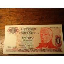 Billetes De 1 Peso Argentino Sin Circular