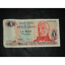 Billete Antiguo De Un Peso Argentino