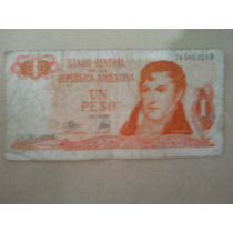 Antiguo Billete De Un Peso Argentino