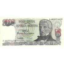 Dificil Billete 10 Pesos Argentinos Bottero 2616 Reposicion