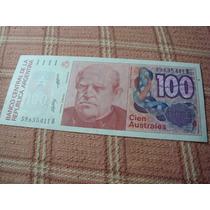 Billete De Cien Australes Argentinos 59.635.411 B