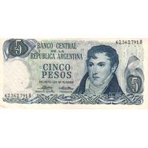 5 Pesos Ley 18.188/69 Bottero
